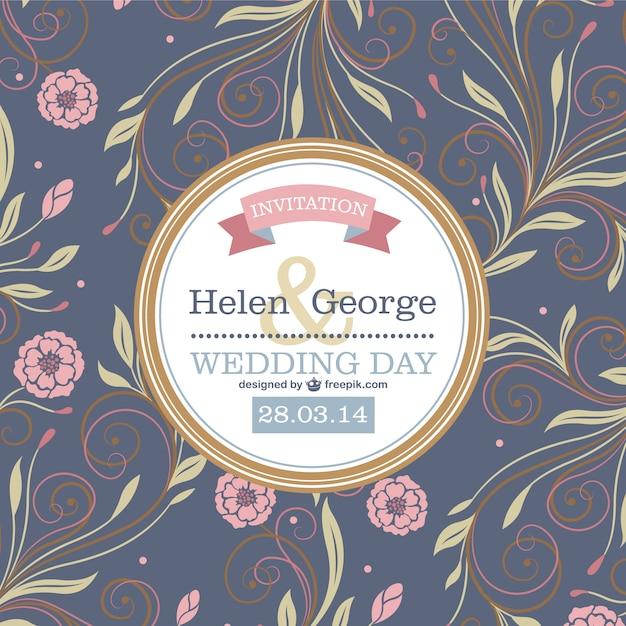 Vektor Blumen Hochzeit Design  Download der kostenlosen Vektor