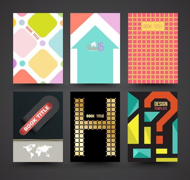Vektor-broschüre abdeckung vorlage design-set Premium Vektoren