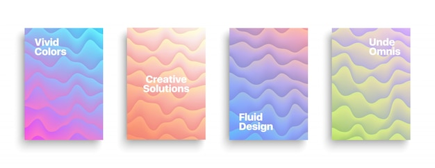 Vektor-broschüren-vorlagen-flüssiges design Premium Vektoren