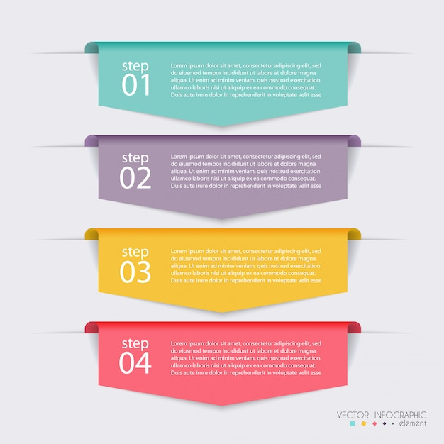 Vektor bunte infografiken für ihre geschäftspräsentationen. Premium Vektoren