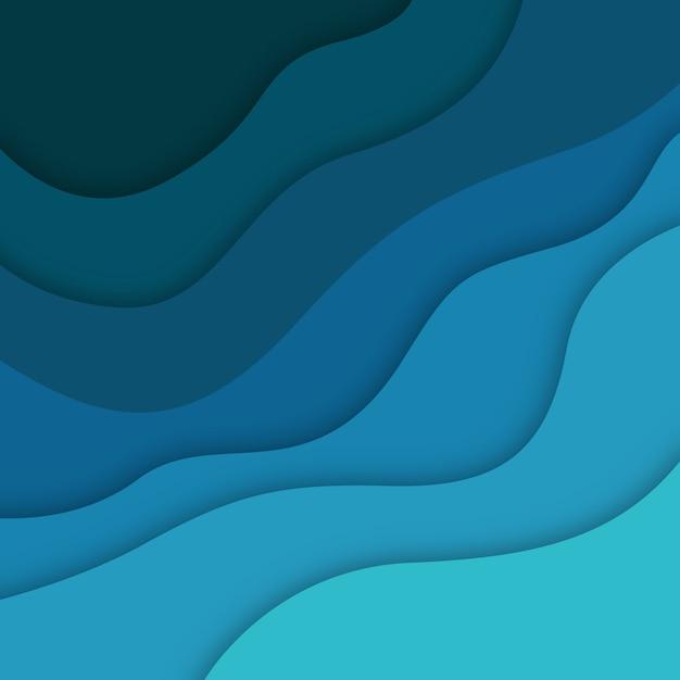 Vektor bunter papercut hintergrund Premium Vektoren
