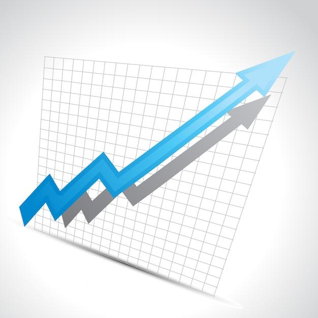Vektor-business-pfeil zeigt wachstum fortschritt Kostenlosen Vektoren