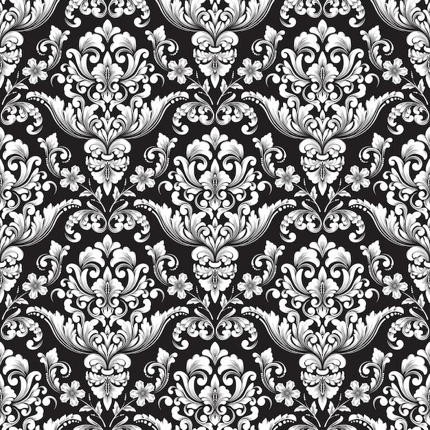 Vektor damast nahtlosen muster hintergrund. klassische luxus altmodische damastverzierung, königliche viktorianische nahtlose beschaffenheit für tapeten, textil, verpackung. Kostenlosen Vektoren