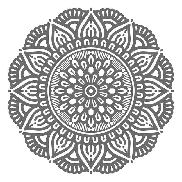 Vektor dekorative mandala illustration für abstraktes und dekoratives konzept im kreisförmigen stil Premium Vektoren
