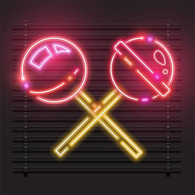 Vektor der süßigkeit vom neon. Premium Vektoren