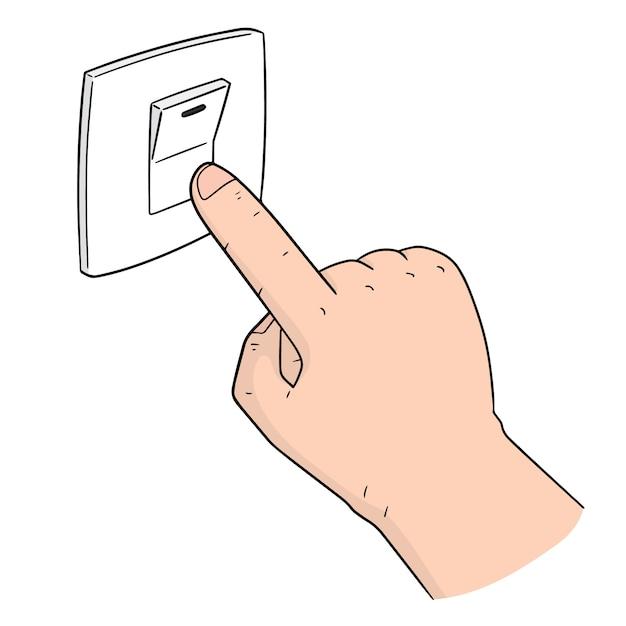 Vektor des elektrischen schalters Premium Vektoren
