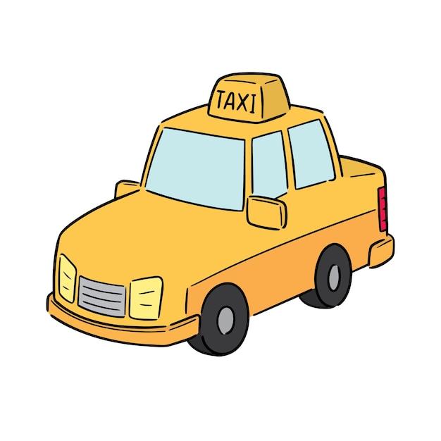 Vektor des taxis Premium Vektoren
