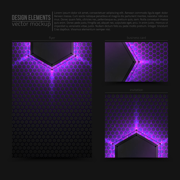 Vektor-design-elemente flyer card banner Premium Vektoren