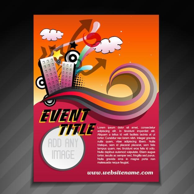 Vektor-event-broschüre flyer vorlage illustration Kostenlosen Vektoren