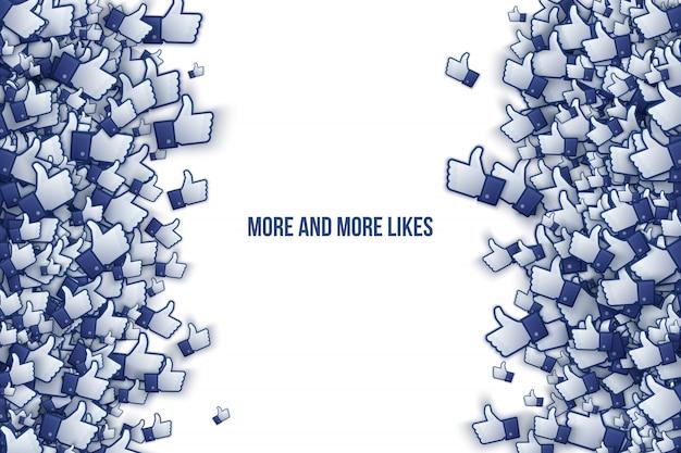 Vektor facebook facebook 3d wie handikonen-kunst-illustration Premium Vektoren