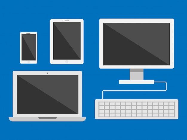Vektor für elektronische geräte Premium Vektoren