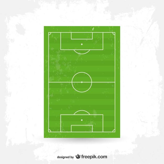 Vektor-fußball-feld freie grafiken Kostenlosen Vektoren