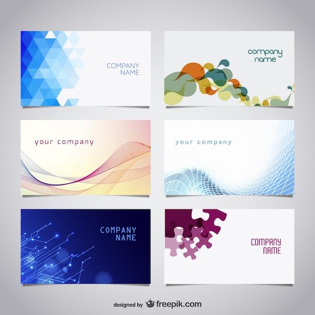 Vektor Gratis Visitenkarten Kit Download Der Kostenlosen