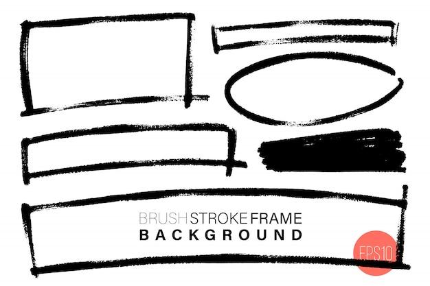 Vektor hand gezeichnet verschiedene geometrische form rahmen gesetzt für hintergründe. Premium Vektoren