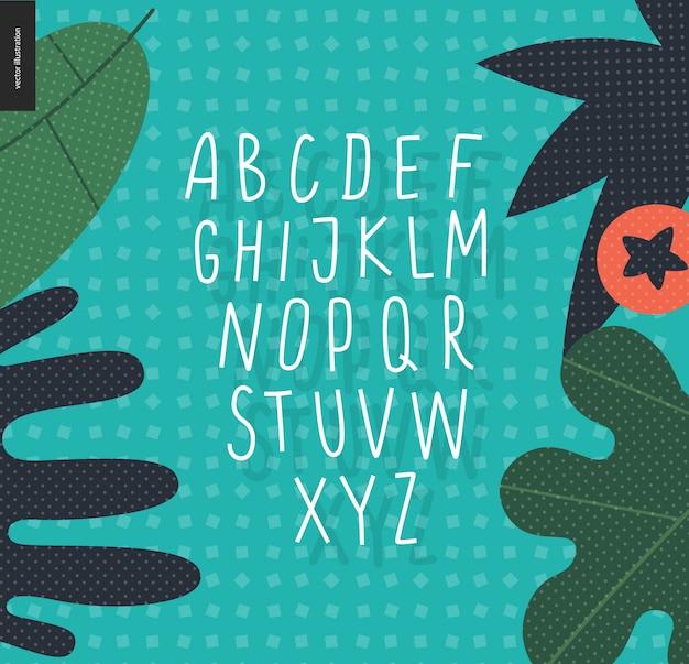 Vektor handgeschriebenes lateinisches großbuchstaben Premium Vektoren