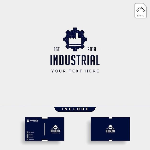 Vektor-ikonenelement des gangfabriklogodesigns industrielles lokalisiert Premium Vektoren