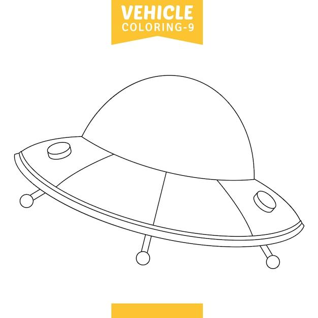 Vektor-illustration der fahrzeug-farbtonseite Premium Vektoren