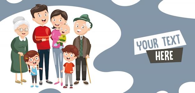Vektor-illustration der familie Premium Vektoren