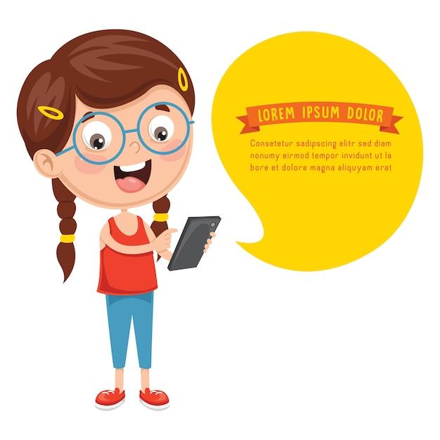 Vektor-illustration der kindertechnologie Premium Vektoren
