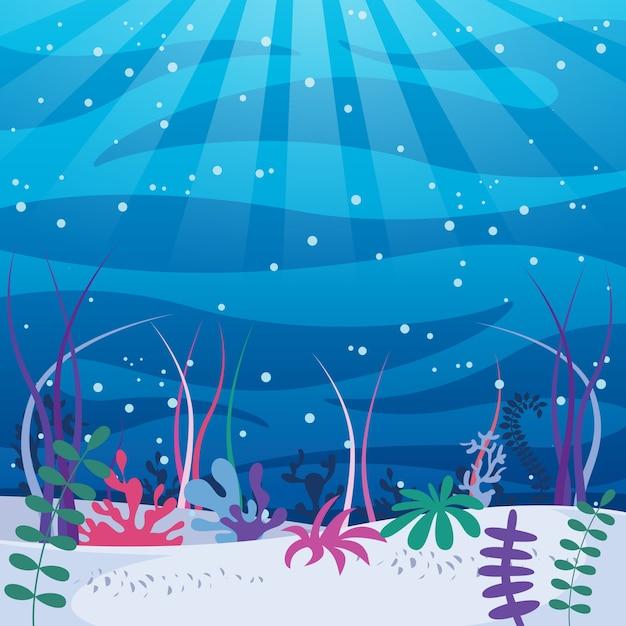 Vektor-illustration der unterwasserwelt Premium Vektoren