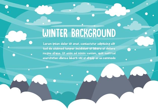 Vektor-illustration der winterszene Premium Vektoren