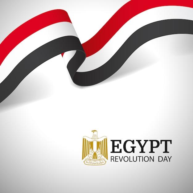 Vektor-illustration des revolutionstags ägypten. Premium Vektoren