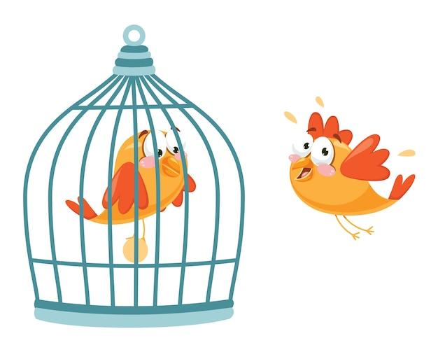 Vektor-illustration des vogels Premium Vektoren