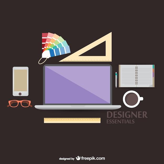 Vektor-illustration designer-tools Kostenlosen Vektoren