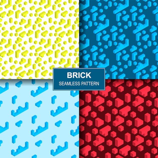 Vektor-illustration, die ziegelstein seamles pattern spielt Premium Vektoren