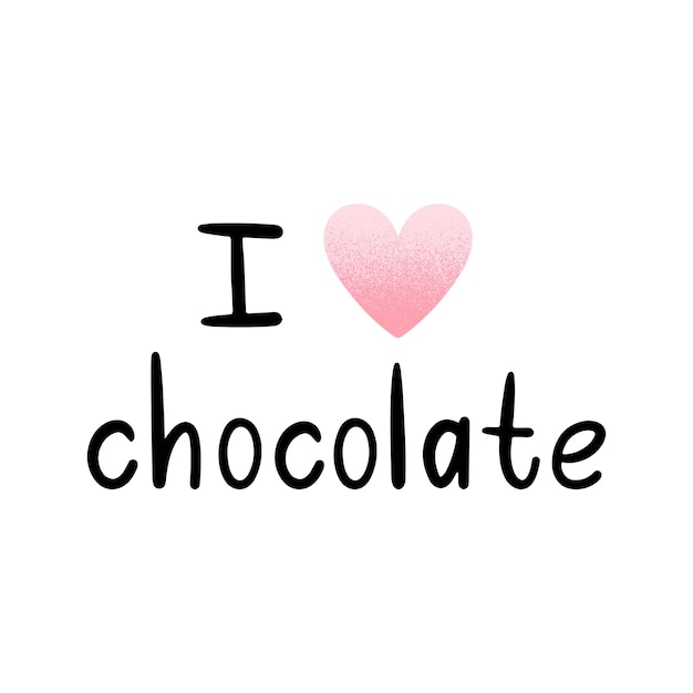 Vektor-illustration ich liebe schokolade. skandinavische motive. Premium Vektoren