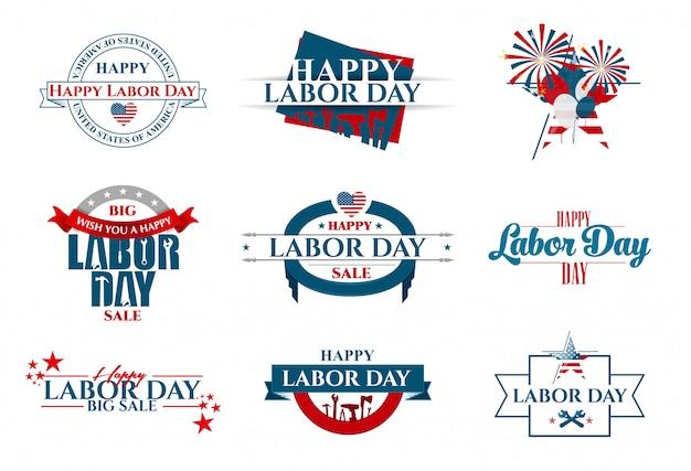 Vektor-illustration labor day ein nationalfeiertag der vereinigten staaten liebe zum heimatland und traditionen seiner leute Premium Vektoren