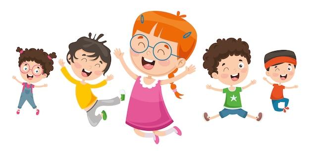 Vektor-illustration von kindern spielen Premium Vektoren