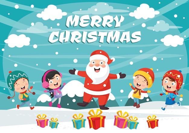 Vektor-illustration von weihnachten Premium Vektoren