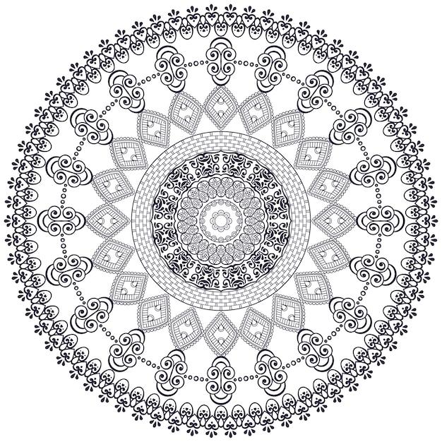 Vektor Indische Mandala Download Der Kostenlosen Vektor