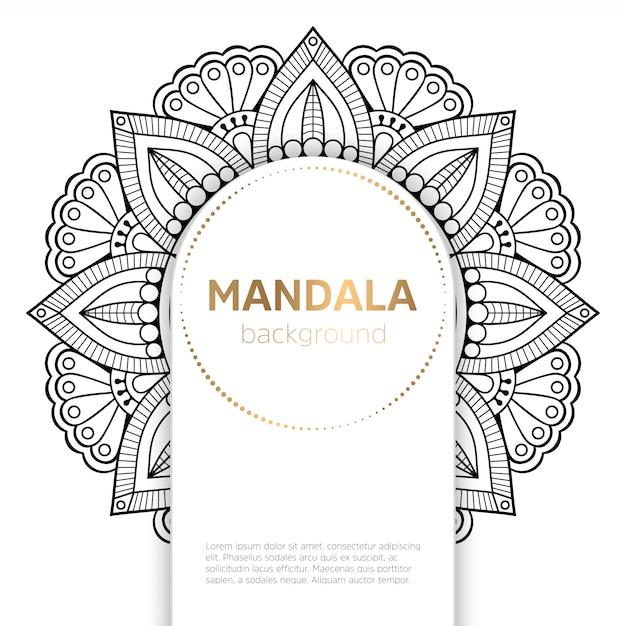 Vektor indische mandala Kostenlosen Vektoren