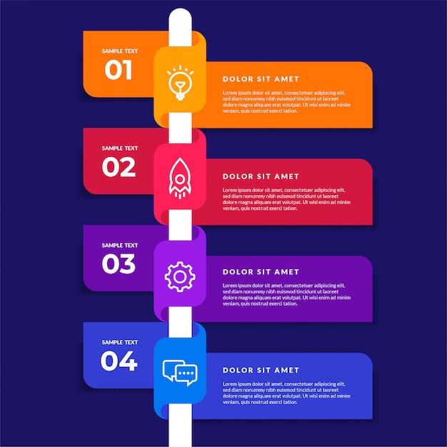Vektor infografik design-elemente. option nummer workflow infografik design Premium Vektoren