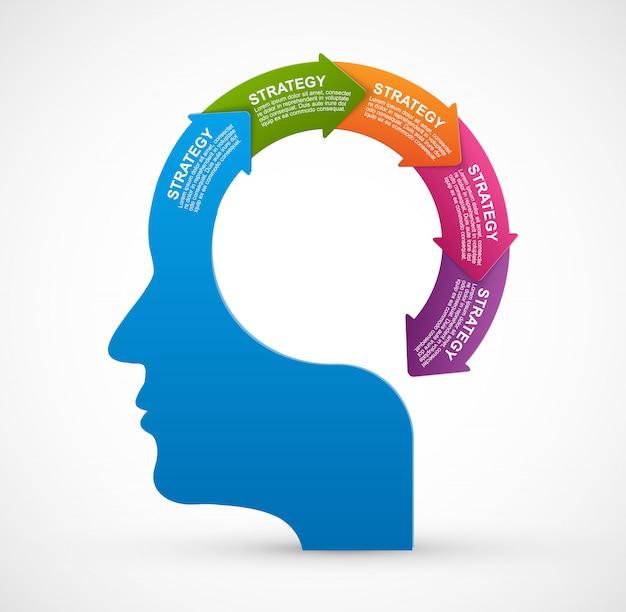 Vektor infografik für business-präsentationen. Premium Vektoren