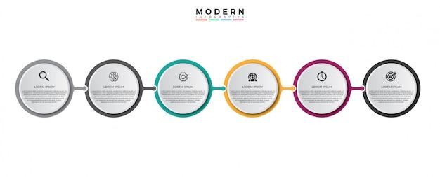 Vektor infographik label design-vorlage Premium Vektoren