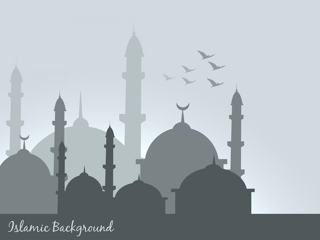 Vektor islamischen hintergrund design illustration Kostenlosen Vektoren