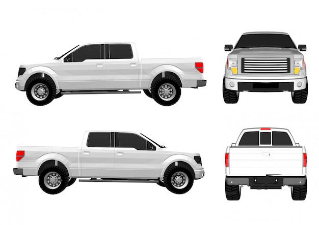 Vektor-kleintransporter Premium Vektoren
