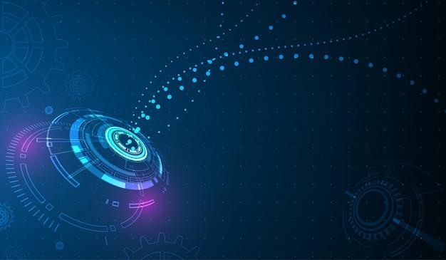 Vektor kreis tech und technologie hintergrund. Premium Vektoren