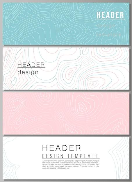 Vektor-layout von headern, banner-design-vorlagen. Premium Vektoren