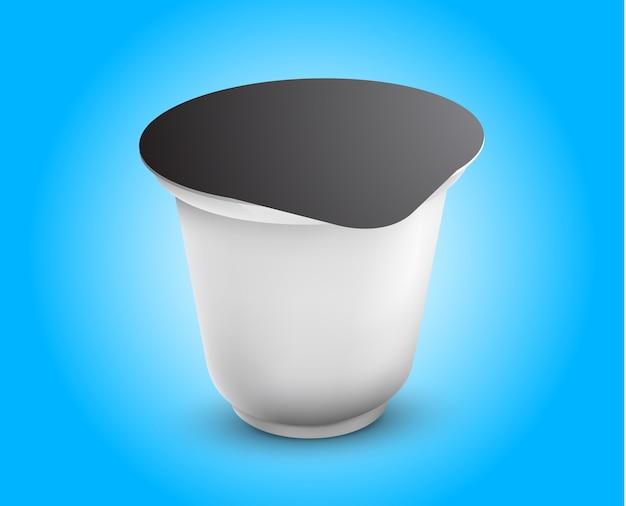 Vektor-leere weiße folien-lebensmittelverpackungs-illustration lokalisiertes schablonen-paket bereit Premium Vektoren
