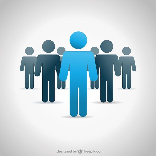 Vektor menschen business-hintergrund Premium Vektoren