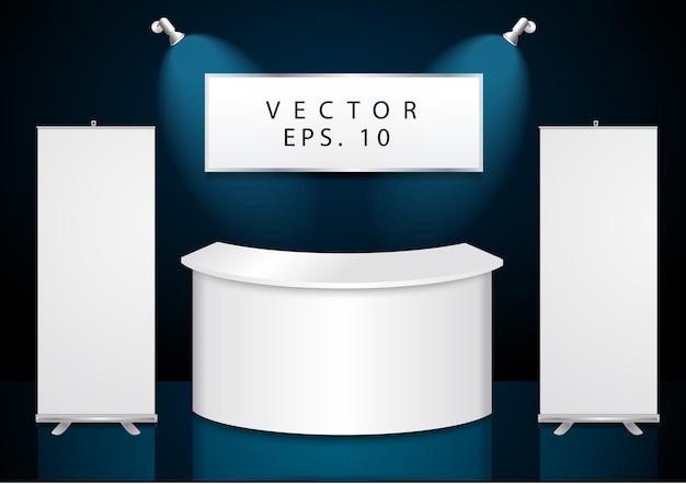 Vektor-messestand-design Premium Vektoren