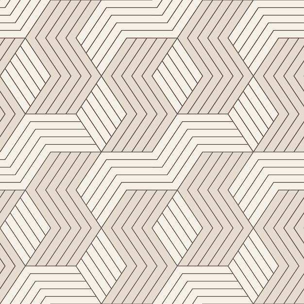 Vektor nahtlose muster. nahtloses muster mit symmetrischen geometrischen linien. wiederholte geometrische kacheln. Premium Vektoren