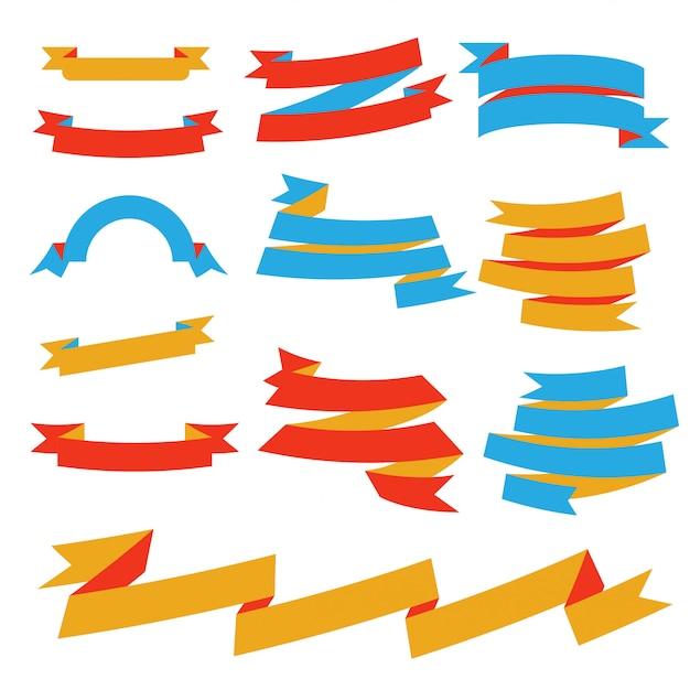 Vektor papierband festgelegt Premium Vektoren