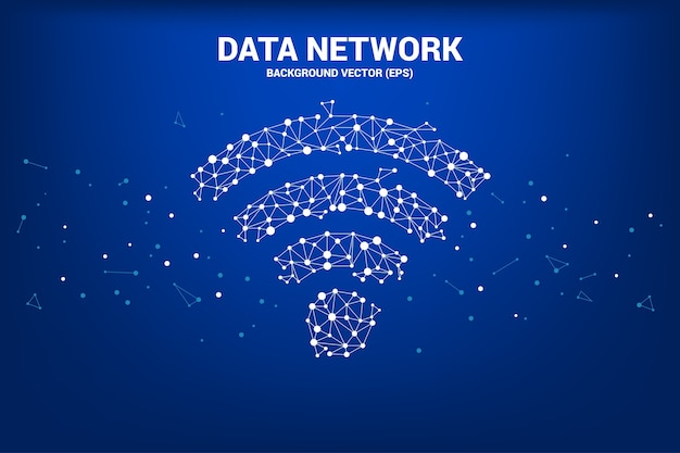 Vektor-polygon-punkt verbinden mobildatenikone signage Premium Vektoren