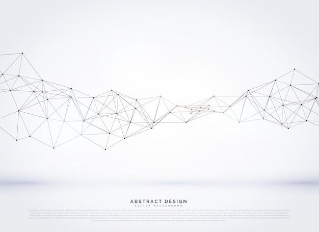Vektor polygonalen abstrakten netzwerk drahtgitter hintergrund Kostenlosen Vektoren