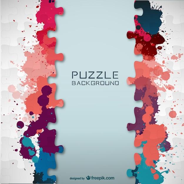 Vektor-puzzle farbe splatter-vorlage Kostenlosen Vektoren
